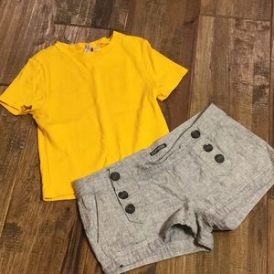 Two piece short and shirt bundle.
